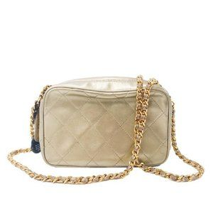 Chanel Camera Case Metallic Gold Lambskin Leather